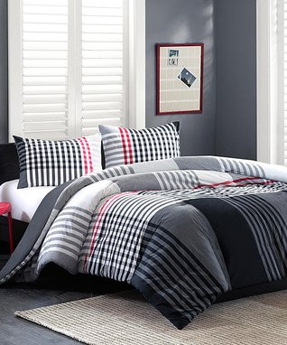 Teal & Gray Kelsey Quilted Comforter Set