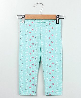Blue Heart Capri Leggings - Infant, Toddler & Girls