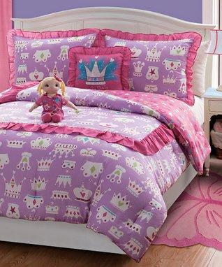 Purple Princess Doll & Reversible Comforter Set