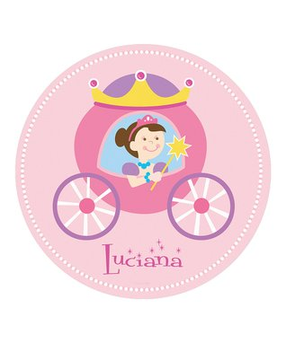 Brown-Haired Princess Personalized Wall Dotz Decal