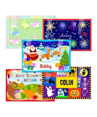 Holidays & Christmas Personalized Place Mat Set
