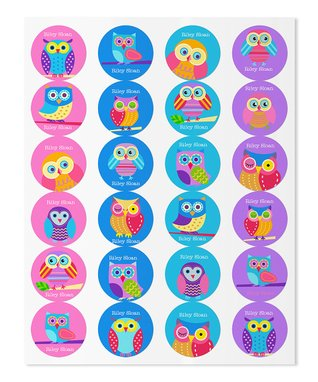 Owl Personalized Round Label Set
