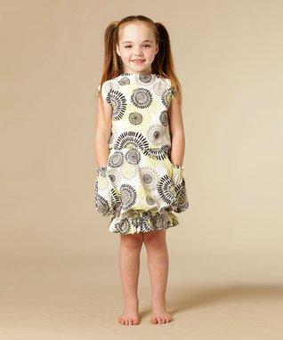 White Dandelion Tori Top & Bubble Skirt - Toddler & Girls