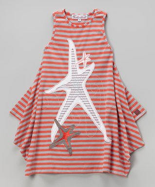 Silver & Coral Nicki Dress - Toddler & Girls