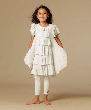 White Ilana Dress - Toddler & Girls
