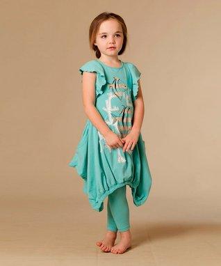 Silver & White Michelle Dress - Toddler & Girls