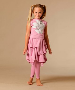 Coral Dandelion Mary Dress - Toddler & Girls