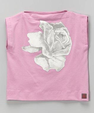 Party Pink Rose Top - Toddler & Girls
