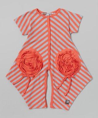 Gray & Orange Bodysuit - Infant