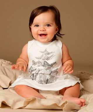 White Little Lady Butterfly Dress - Infant