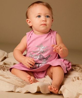 Party Pink Little Lady Butterfly Dress - Infant