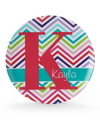 Zigzag Initial Personalized Plate