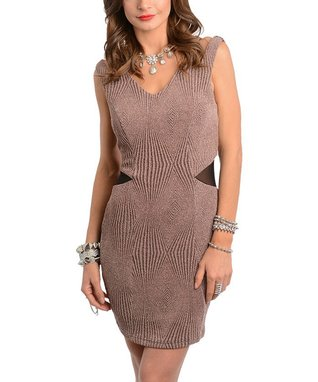 Mocha & Taupe Pocket Shirt Dress