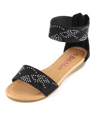 Black Ankle-Strap Sandal