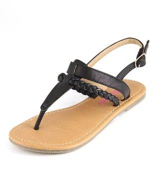 Beige T-Strap Sandal