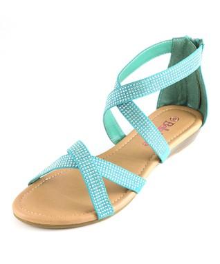 Tan & Gold Ankle-Strap Sandal