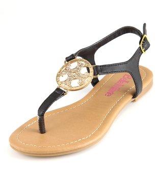 Black T-Strap Sandal