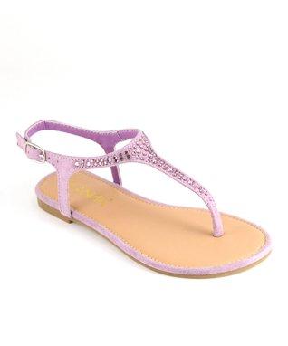 Lavender Rhinestone Sandal