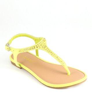 Yellow Rhinestone Sandal