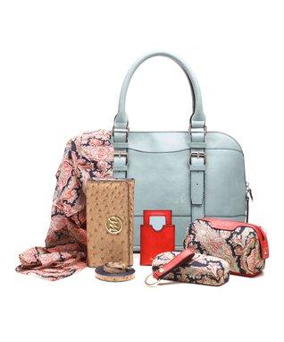 emilie m. Mist Buckle Dome Jane Satchel & Essentials Kit