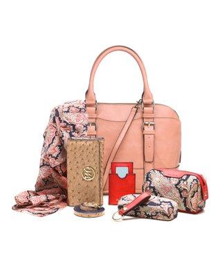 emilie m. Salmon Buckle Dome Jane Satchel & Essentials Kit