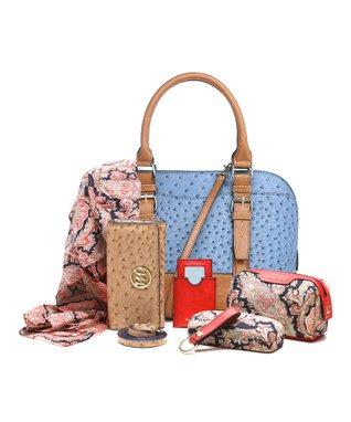 emilie m. Cognac Buckle Dome Jane Satchel & Essentials Kit