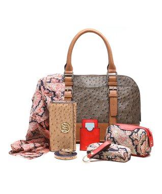 emilie m. Wheat Buckle Dome Jane Satchel & Essentials Kit