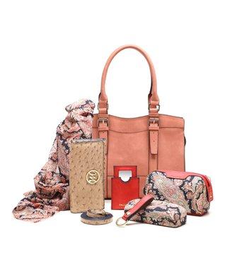 emilie m. Salmon Buckle Jane Satchel & Essentials Kit