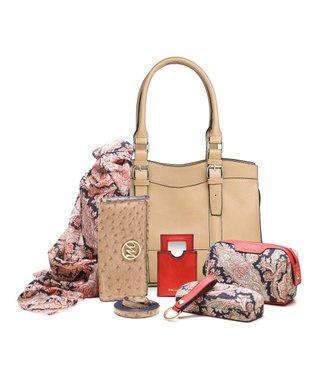 emilie m. Cognac Buckle Jane Satchel & Essentials Kit
