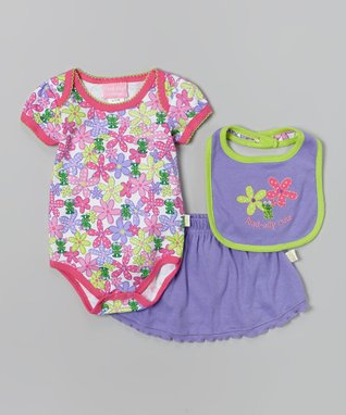 Unik Pink Strawberry Ruffle Dress & Bloomers - Infant