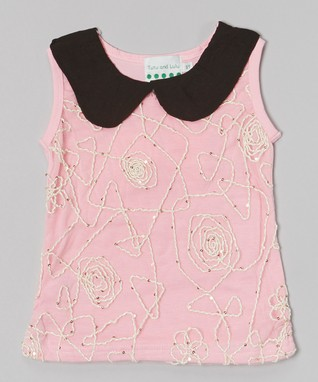 White Studded Bow Ruffle Tank - Infant, Toddler & Girls