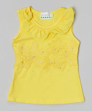 Black Rhinestone Flower Top - Infant, Toddler & Girls