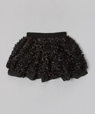 White Flower Puff Patch Skirt - Infant, Toddler & Girls