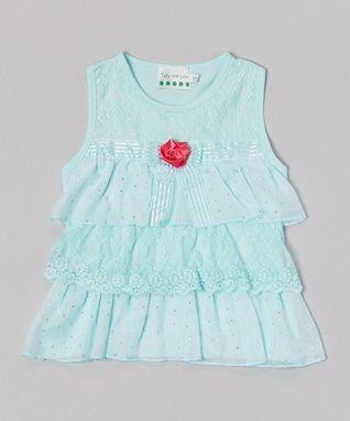Black Flower Puff Patch Skirt - Infant, Toddler & Girls