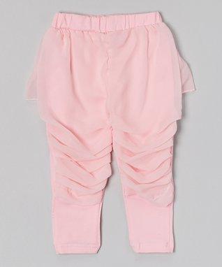 Black Skirted Ruffle Pants - Infant, Toddler & Girls
