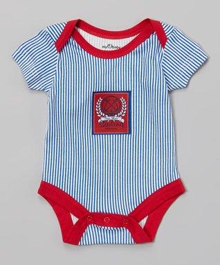 Tumblewalla Blue & White Organic Pants - Infant & Toddler