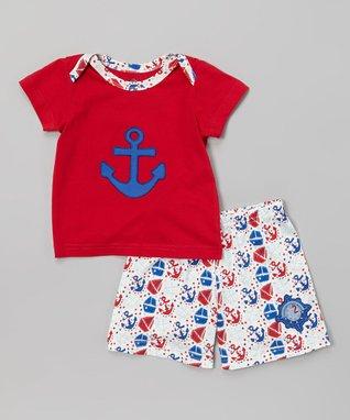 Tumblewalla Gray & Blue Organic Pants - Infant & Toddler