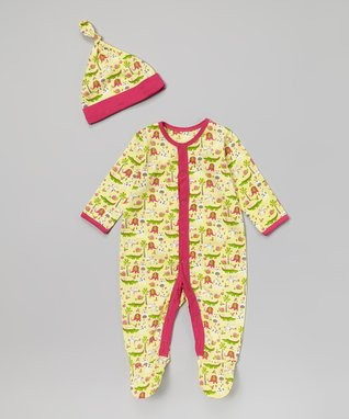 Tumblewalla Navy & Yellow Elephant Organic Bodysuit - Infant