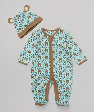 Sweet Peanut Pink & Light Blue Stripe Organic Gown - Infant