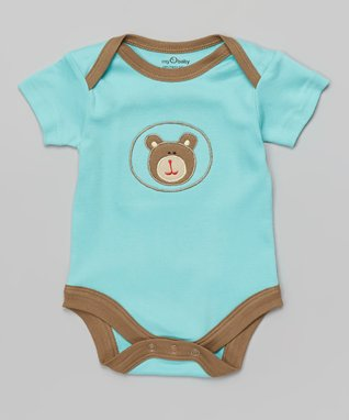 babysoy Brown & Green Organic Gown - Infant