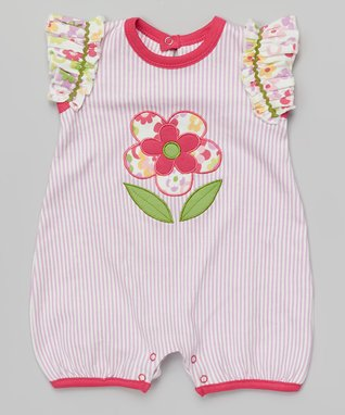 My O Baby Pink Floral Organic Romper - Infant