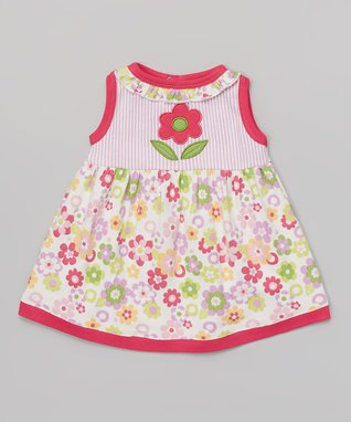 Sweet Peanut Red & White Hearts Organic Gown - Infant