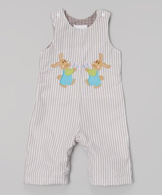 Blue Gingham Owl John Johns - Toddler