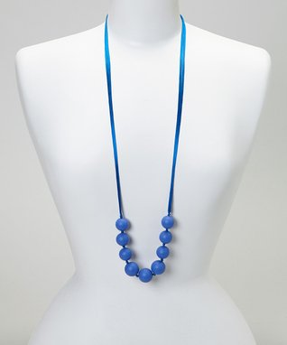Aqua & Blue Lacey Teething Necklace