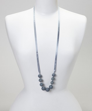 Gray Trendy Teething Necklace