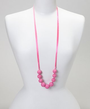 Coral Trendy Teething Necklace