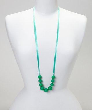 Lime Green Trendy Teething Necklace