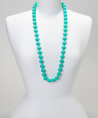 Teal Classy Teething Necklace