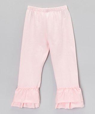 Pink Stripe Ruffle Maxi Dress - Girls