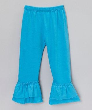 Light Pink Ruffle Capri Pants - Infant, Toddler & Girls
